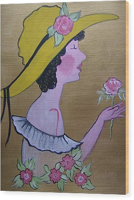 Flower Girl Wood Print by Leslie Manley