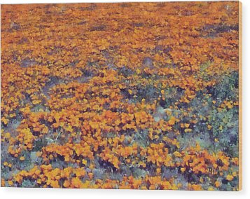 Flower Hill Wood Print by Russ Harris