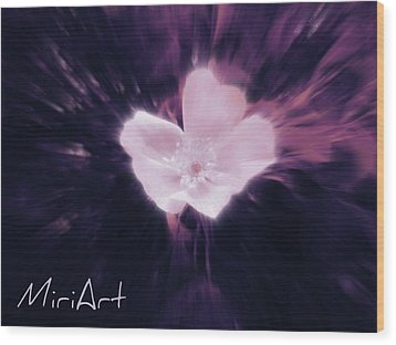 Wood Print featuring the photograph Flower In Purple by Miriam Shaw