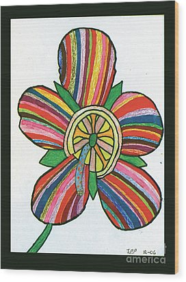 Flower Wood Print by Jeffrey Peterson