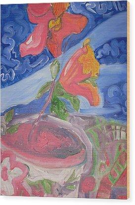 Flower Wood Print by Joseph  Arico