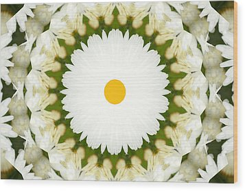Wood Print featuring the photograph Flower Mandala - A by Anthony Rego