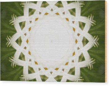 Wood Print featuring the digital art Flower Mandala - C by Anthony Rego