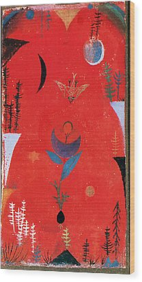 Flower Myth Wood Print by Paul Klee