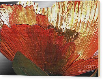 Flower Of Glass Wood Print