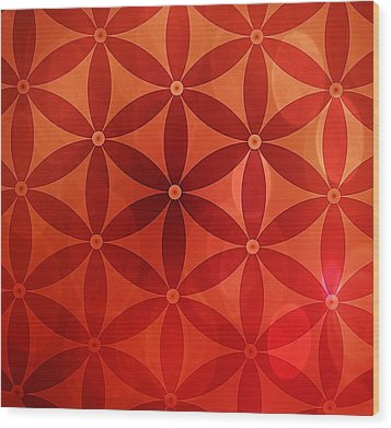 Flower Of Life  Wood Print by Serena King