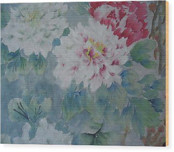 Flower  Oo3 Wood Print by Dongling Sun
