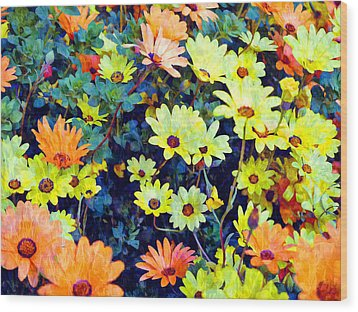 Wood Print featuring the photograph Flower Power by Glenn McCarthy Art and Photography