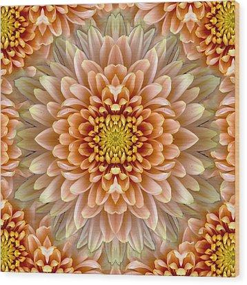 Flower Power Wood Print by Sumit Mehndiratta