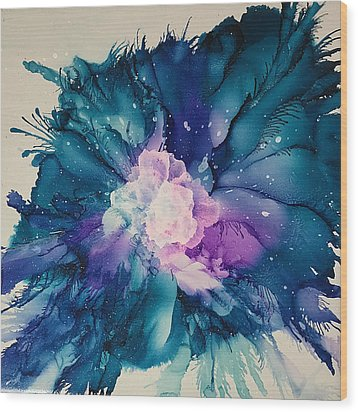 Flower Power Wood Print by Suzanne Canner