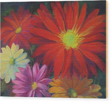 Flower Power Wood Print by Vikki Bouffard