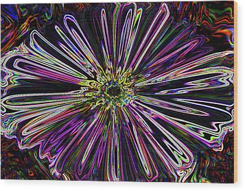 Flower Powered  Wood Print