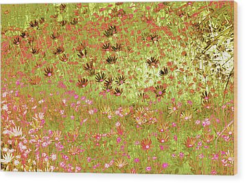 Wood Print featuring the digital art Flower Praise by Linde Townsend