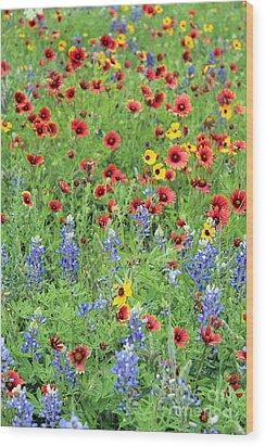 Flower Quilt Wood Print