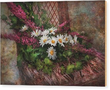 Flower - Still - Seat Reserved Wood Print by Mike Savad