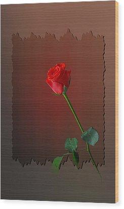 Flower Two Wood Print by Deepak Pawar