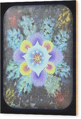 Floral Vortex Wood Print