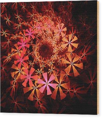 Flower Whirlpool Wood Print by Anastasiya Malakhova