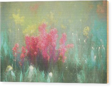 Wood Print featuring the photograph Flowering Prairie by James Barber