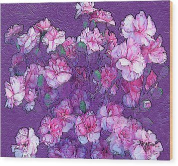 Flowers #063 Wood Print by Barbara Tristan