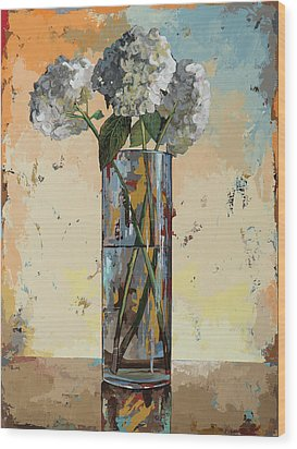 Wood Print featuring the painting Flowers #16 by David Palmer