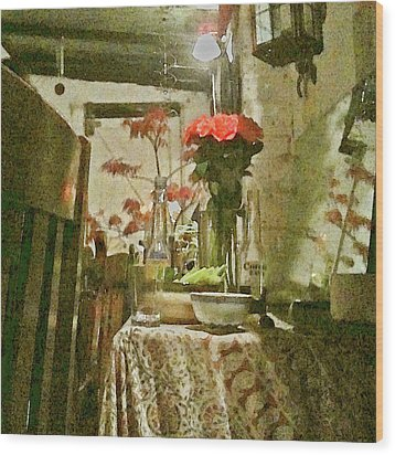 Flowers And Foliage Wood Print