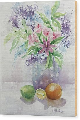 Flowers And Fruit Wood Print by Bobbi Price