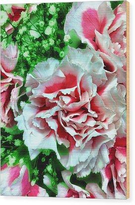 Flowers Wood Print by Carlos Avila