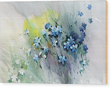 Flowers Fantasy Wood Print by Natalia Eremeyeva Duarte