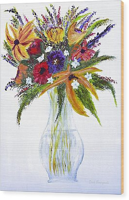 Flowers For An Occasion Wood Print by Dick Bourgault