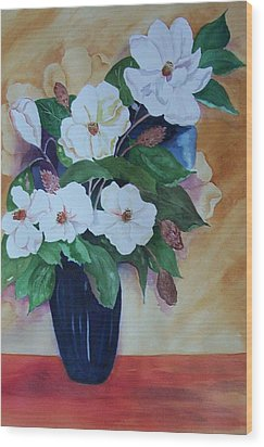 Flowers For The Table Wood Print by Audrey Bunchkowski