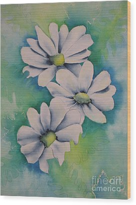 Wood Print featuring the painting Flowers For You by Chrisann Ellis
