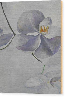 Flowers Frame 1 Wood Print by Min Wang