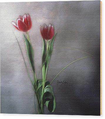 Flowers In Light Wood Print by Jack Eadon