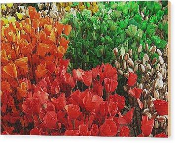 Flowers Wood Print by Mohammed Nasir