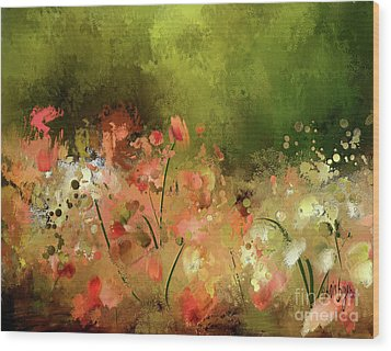 Wood Print featuring the photograph Flowers Of Corfu by Lois Bryan