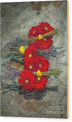 Wood Print featuring the photograph Flowers On Rocks by Nick Zelinsky