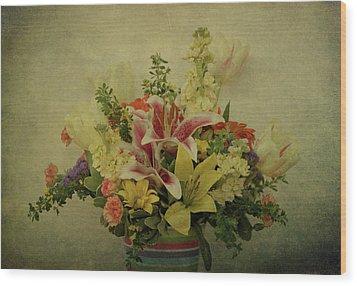 Flowers Wood Print by Sandy Keeton