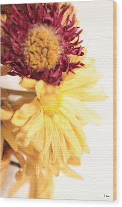 Flowers Wood Print by Thomas Leon