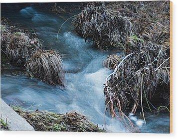 Flowing Creek Wood Print