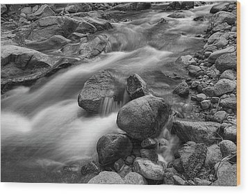 Wood Print featuring the photograph Flowing Rocks by James BO Insogna