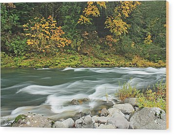 Wood Print featuring the photograph Flowing Umpqua River by Tyra  OBryant