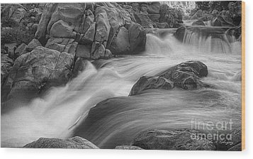 Flowing Waters At Kern River, California Wood Print by John A Rodriguez