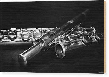 Flute Series I Wood Print by Lauren Radke