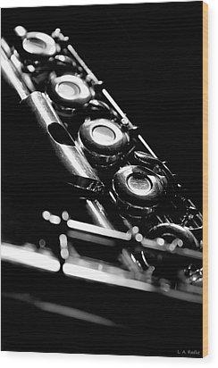 Flute Series IIi Wood Print by Lauren Radke