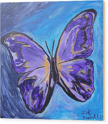 Flutterby Bring The Light Wood Print