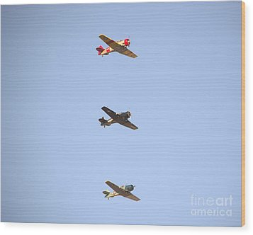 Fly Boys Wood Print