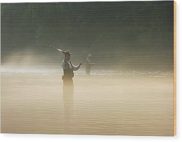 Fly Fishing  Wood Print