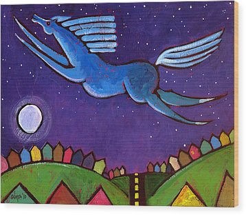 Fly Free From Normal Wood Print by Angela Treat Lyon