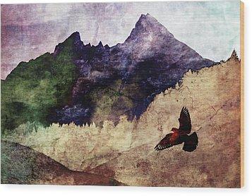Fly High Wood Print by AugenWerk Susann Serfezi